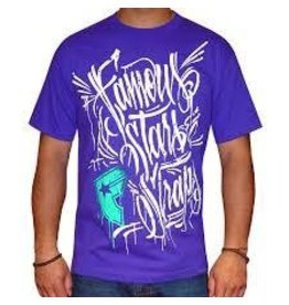 Famous Stars & Straps Hand Styles T-Shirt - Purple -