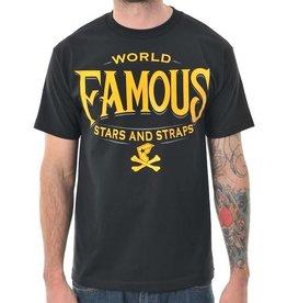 Famous Stars & Straps Classic Letters T-Shirt - Black -