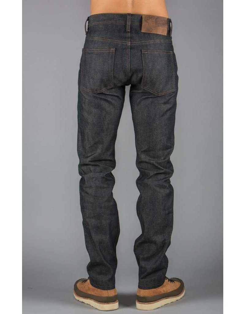 Naked & Famous Weird Guy Indigo  X Beige Selvedge