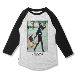 Crooks & Castles Portrait of a Lady Raglan-Gry/Blk