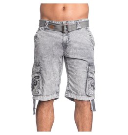 Affliction Silver Stone Cargo Shorts