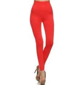 Song & Sol Coral Solid Leggings - O/S