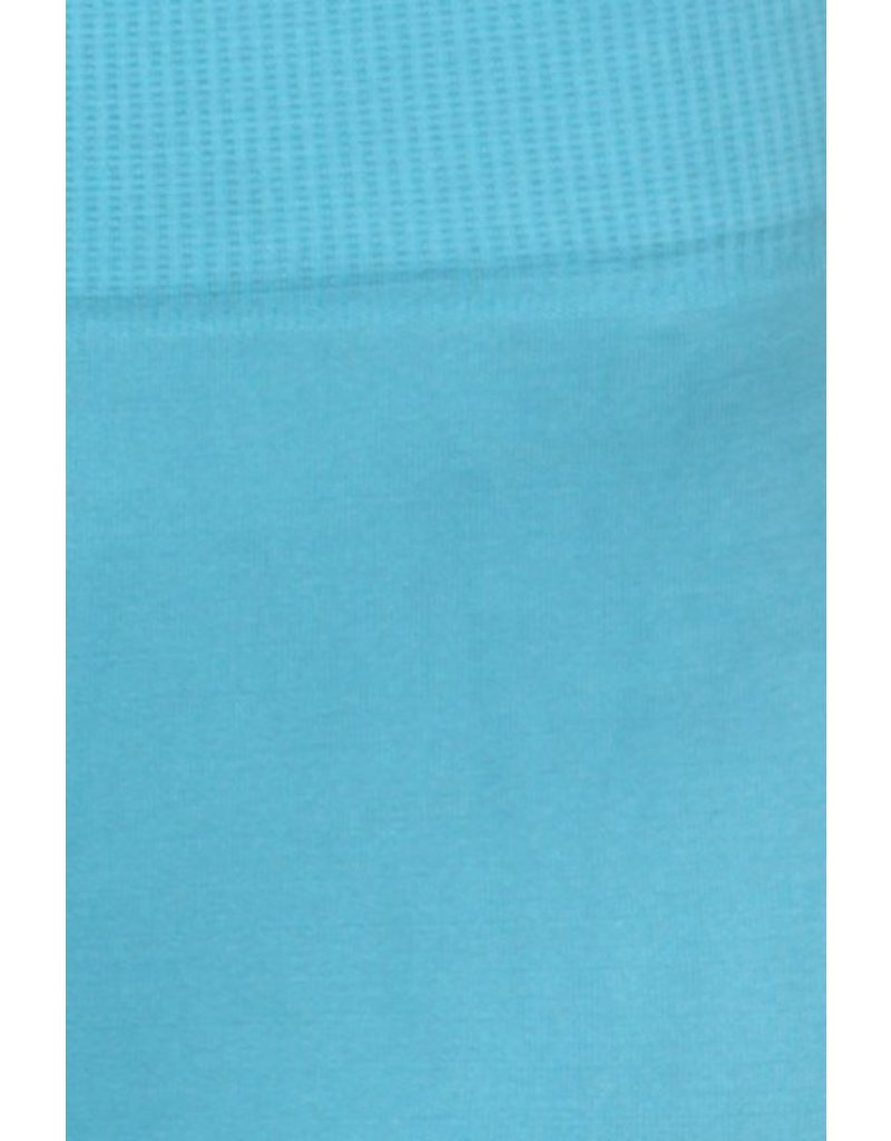 Song & Sol Turquoise Solid Leggings - O/S