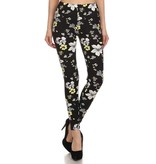 Song & Sol Floral Print Leggings - O/S
