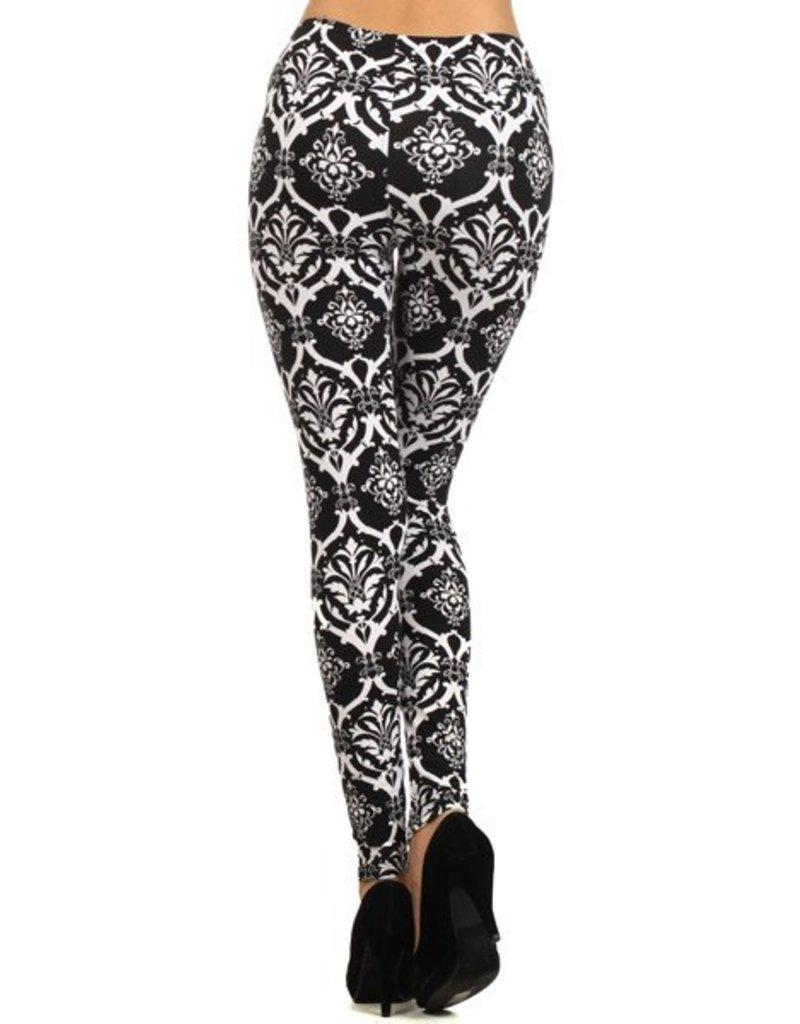 Love It Royal Damask Leggings - O/S