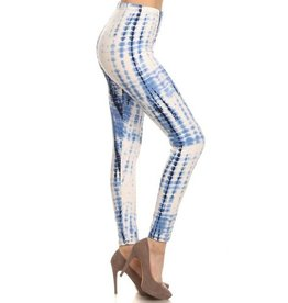 Love It Blue/White Tie Dye Leggings - O/S