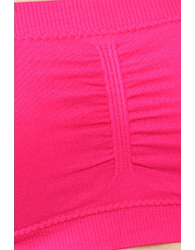 Love It Padded Bandeau - Hot Pink - O/S