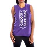Crooks & Castles Banner Sleeveless Tee - Purple