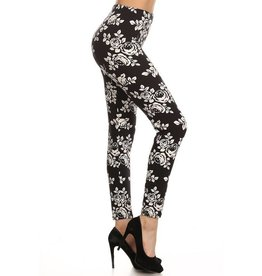 Love It Midnight Rose Leggings - O/S