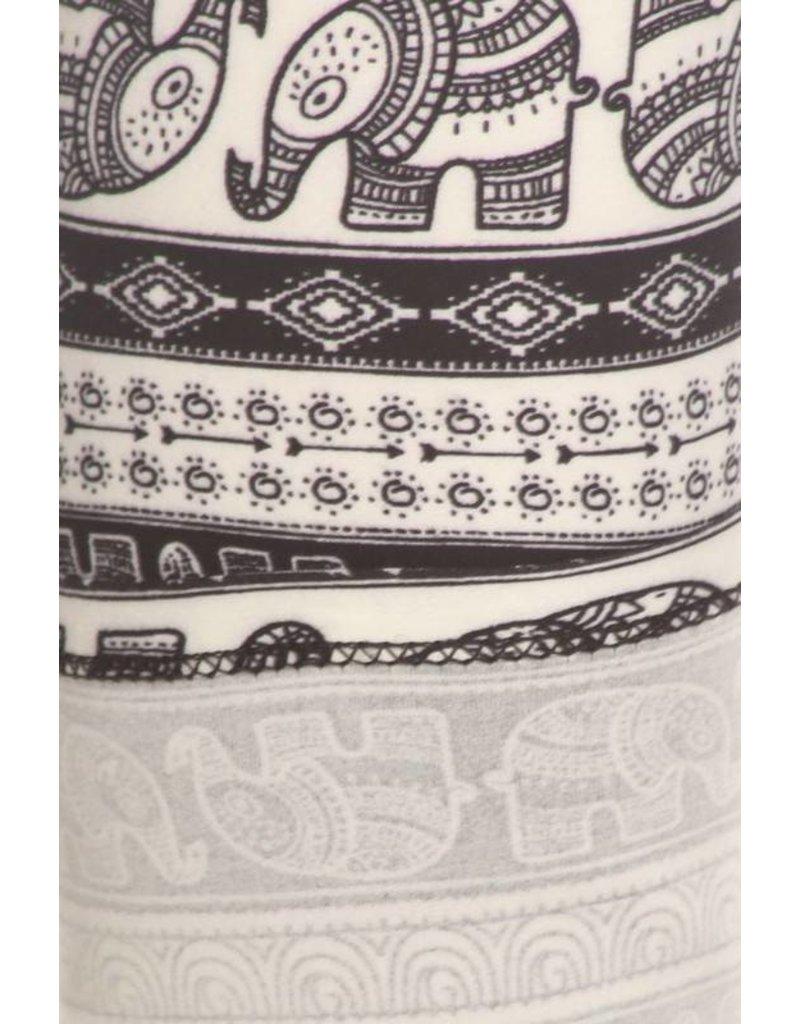 Love It Elephant Aztec Leggings - O/S