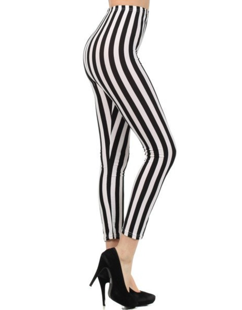 Love It Striped Beetlejuice Leggings - O/S