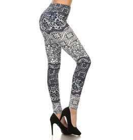 Love It Lacey Leaf Leggings - O/S