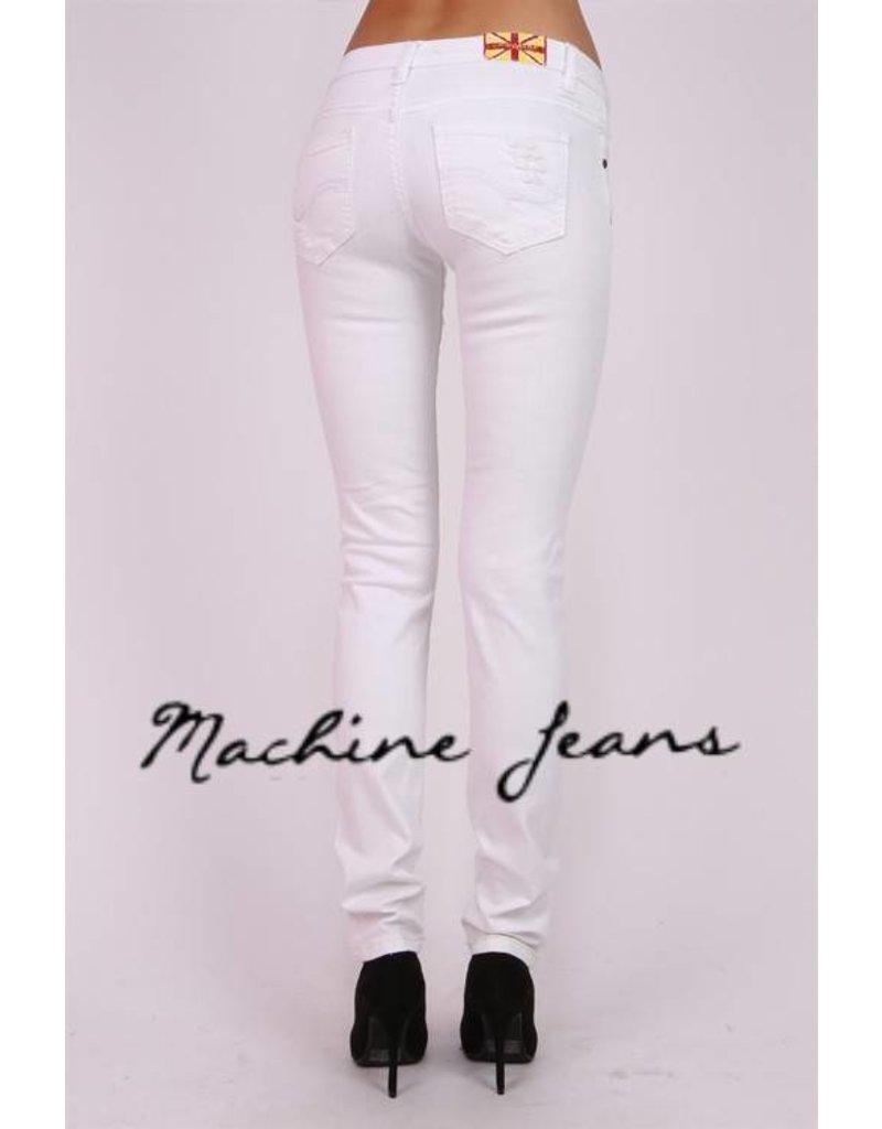 Machine Jeans Distressed Skinny - White