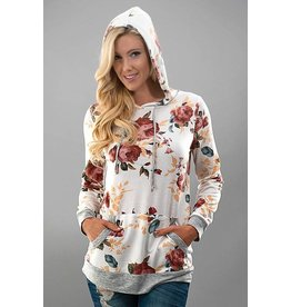 Trend Notes Floral Print L/S-Ivory