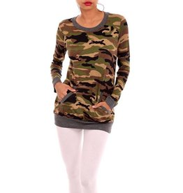 Trend Notes Camo Pocketed Tunic