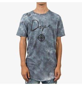 Dope Washed Monogram Scoop Tee -Black Cloud
