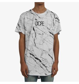 Dope Marble Scoop T-Shirt - White