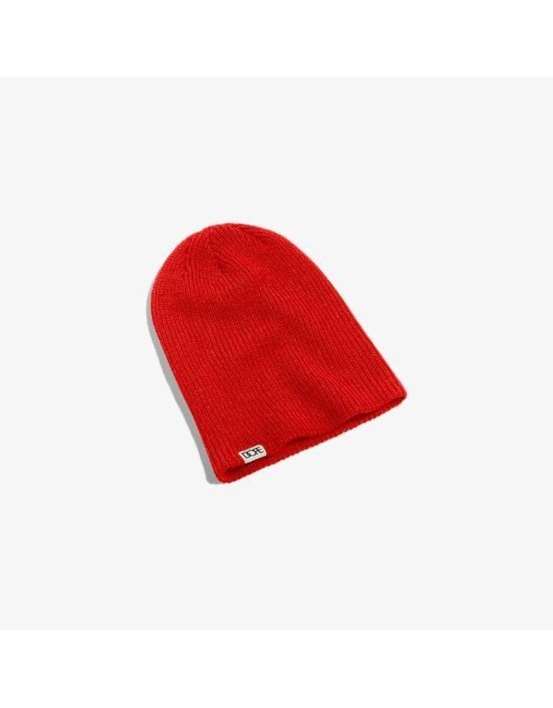 Dope Woven Label Beanie - Red