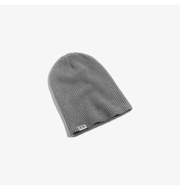 Dope Woven Label Beanie - Grey