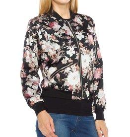 1MadFit Bomber Jacket - Floral Black