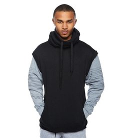 CODEONE Color Black Biker Sweater - Black/Grey