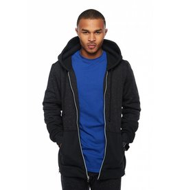 CODEONE Oreo Fleece Zip-Up Hoodie w/ Side Zippers - Speckled Black