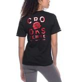 Crooks & Castles Rosé V-Neck - Black