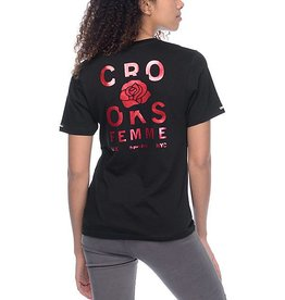 Crooks & Castles Rosé V-Neck - Black