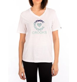Crooks & Castles Crooked Heart V-Neck - Wht