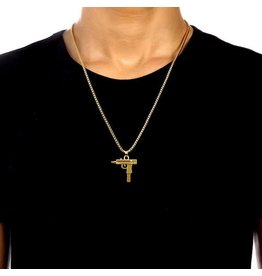 Duke & Duchess Custom Apparel Mini Uzi Necklace - Gold