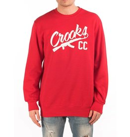 Crooks & Castles Chain AK Sweater - True Red