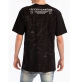 Crooks & Castles Cryptic Chains T-Shirt - Black