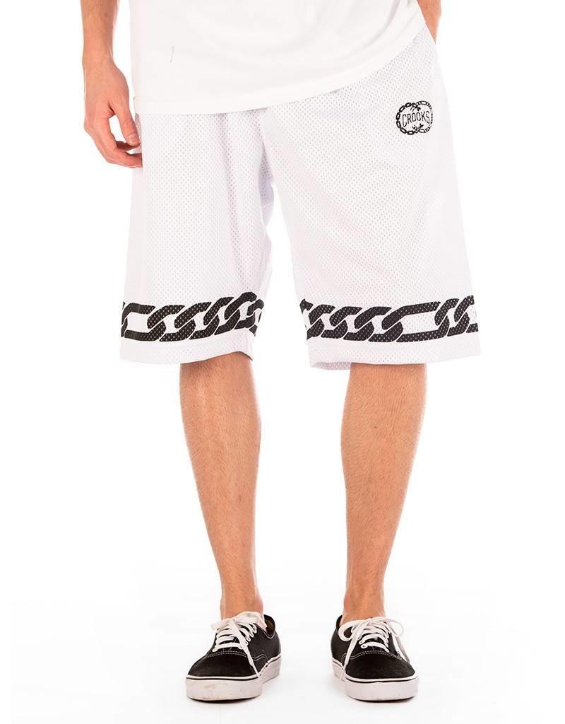 Crooks & Castles CC Basketball Shorts - White