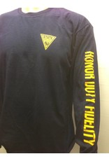 Delta Long Sleeve Tee Shirt  Navy