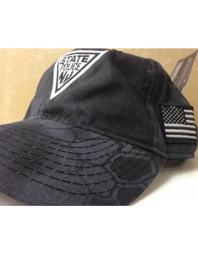 Hat Black Tactical Kryptek with American Flag on Side