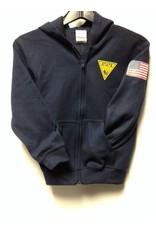 Gildan Youth Hooded Full Zip Sweatshirt
