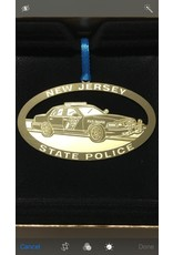 """3"""" Brass Lacquered NJSP Ornament"""