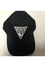 Black Hat with Silver Puff Logo