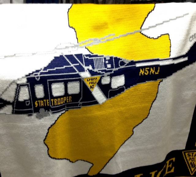 Logo Knits Helicopter Knit Blanket