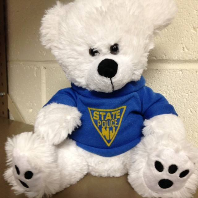 "8"" Plush White Teddy Bear"