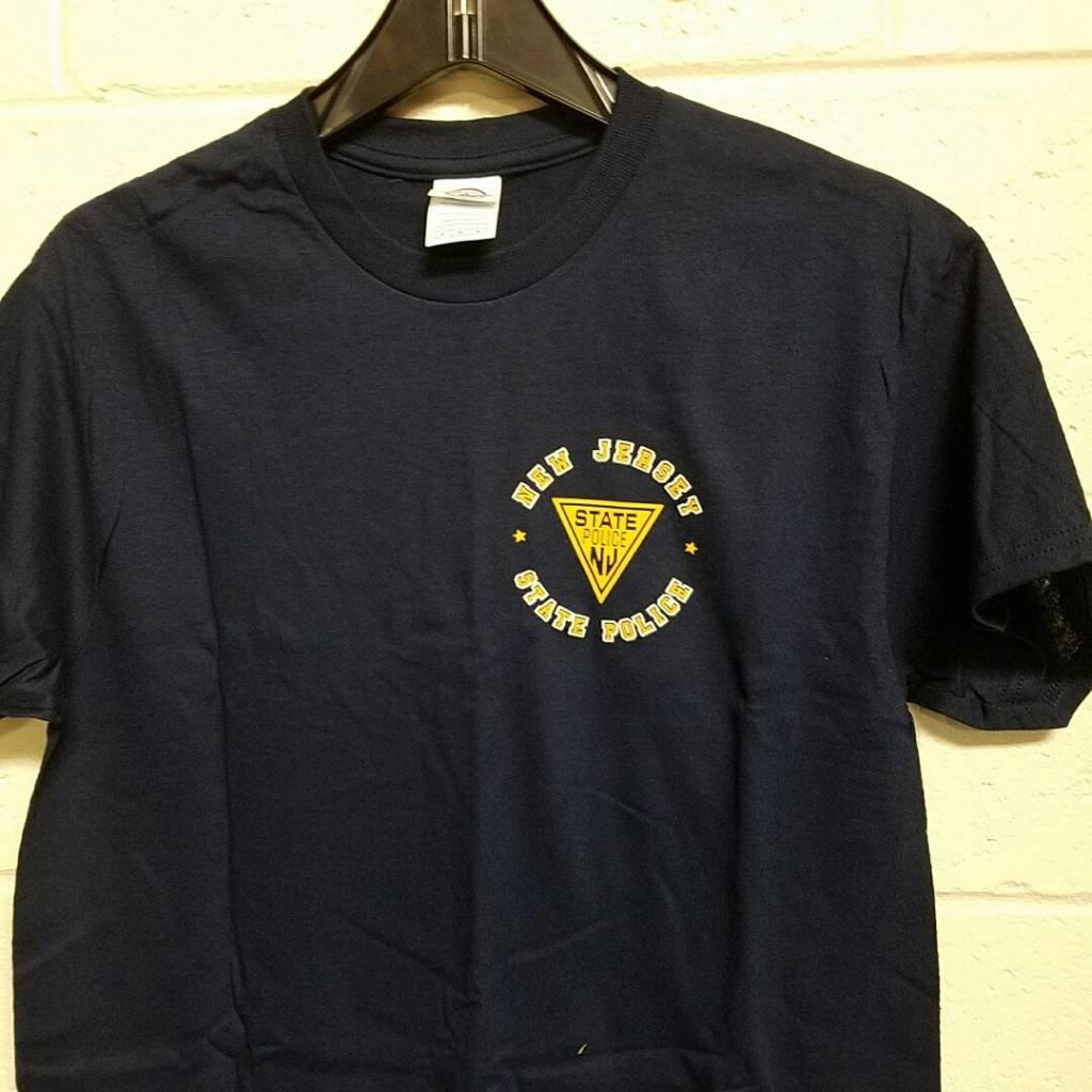 Triangle w/New Jersey State Police Around Logo