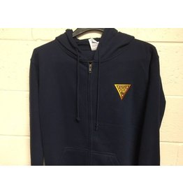 Delta Zipper Hooded Sweat Shirt