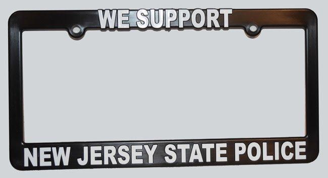 NJSP License Plate Frame  sc 1 st  True Blue and Gold & NJSP License Plate Frame - True Blue and Gold