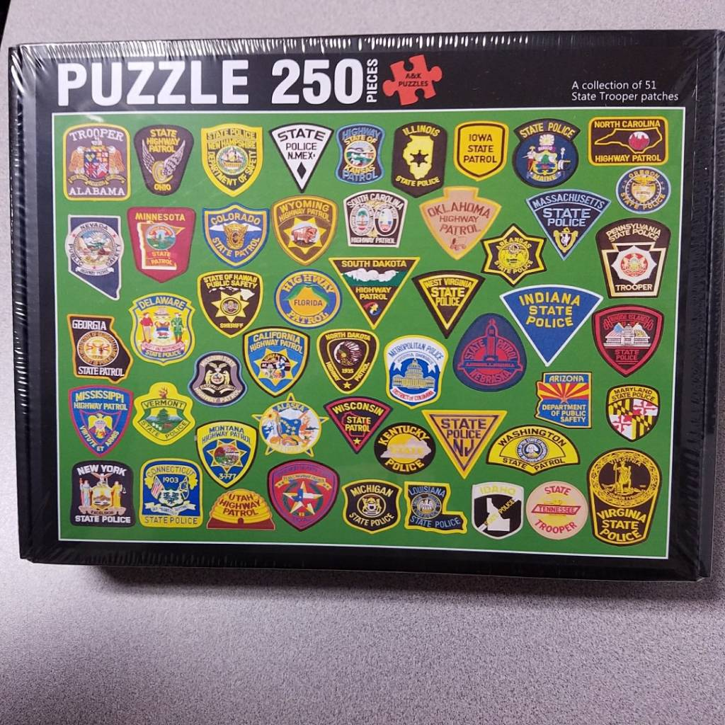 Multiple State Trooper Patch Puzzle