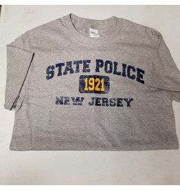 Short Sleeve Distressed State Police 1921 New Jersey
