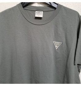 Embroidered Grey Tee