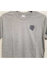 Embroidered Athletic Heather Grey T Shirt