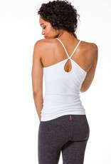 Tank Tops Hard Tail - Keyhole Crossover Tank with Bra