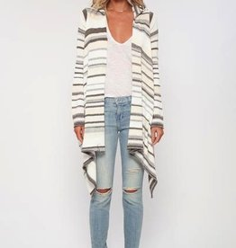 Sweater Goddis - Leona Hooded Wrap Sweater