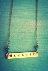 Necklaces Noelani Hawaii - Namaste Stamped Necklace